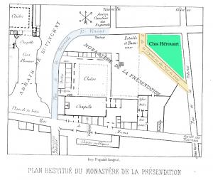 Plan du quartier du Clos Hérouard